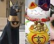 Ancient Egyptian cat figurine, Japanese Maneki-Nekio, Grumpy Cat