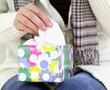 Woman grabs a tissue