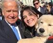 Former Vice President Joe Biden met an adorable puppy named Biden on Wednesday.